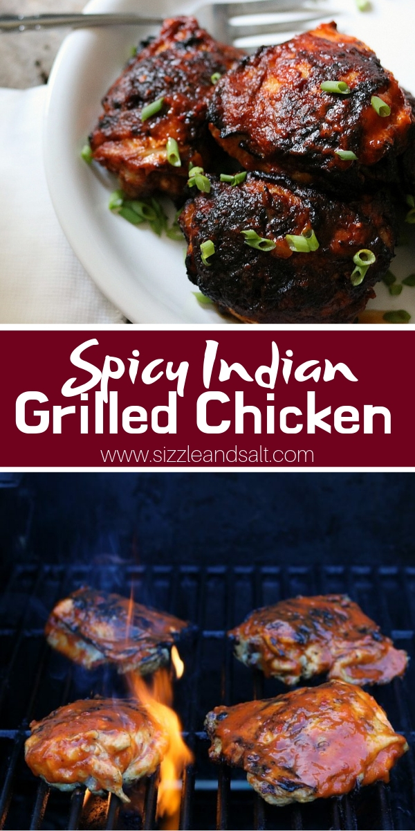 This Spicy Grilled Chicken uses Indian spices to create a delicious, spicy chicken recipe perfect for summer