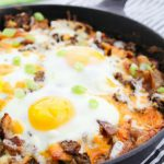 Meat Lover's Skillet Breakfast Pizza