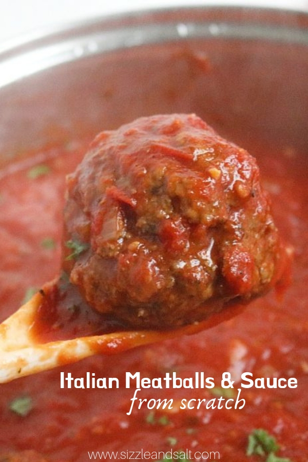 If you've never made Tomato Sauce and Meatballs from scratch, you need to give this Authentic Italian Sauce recipe a try