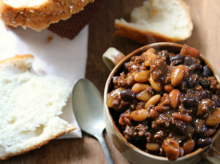 Mom's Calico Beans Recipe (made with canned beans)
