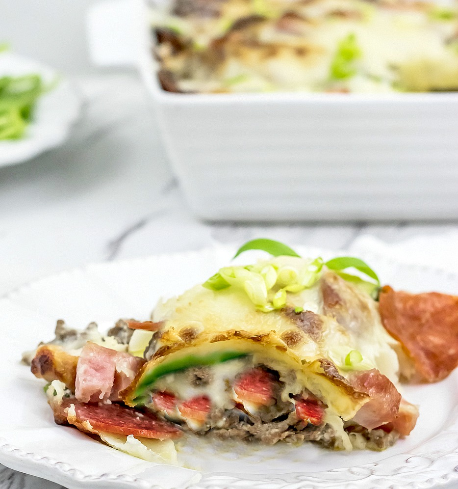Zucchini lasagna rolls are way easier to make than traditional lasagna! Plus, you skip out on all those boring carbs