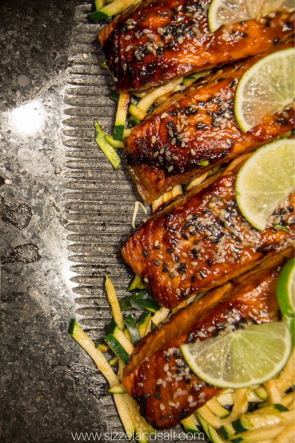 If you need a great baked salmon recipe, look no further than this Sesame Ginger Salmon - it's flavorful, quick and low carb, too
