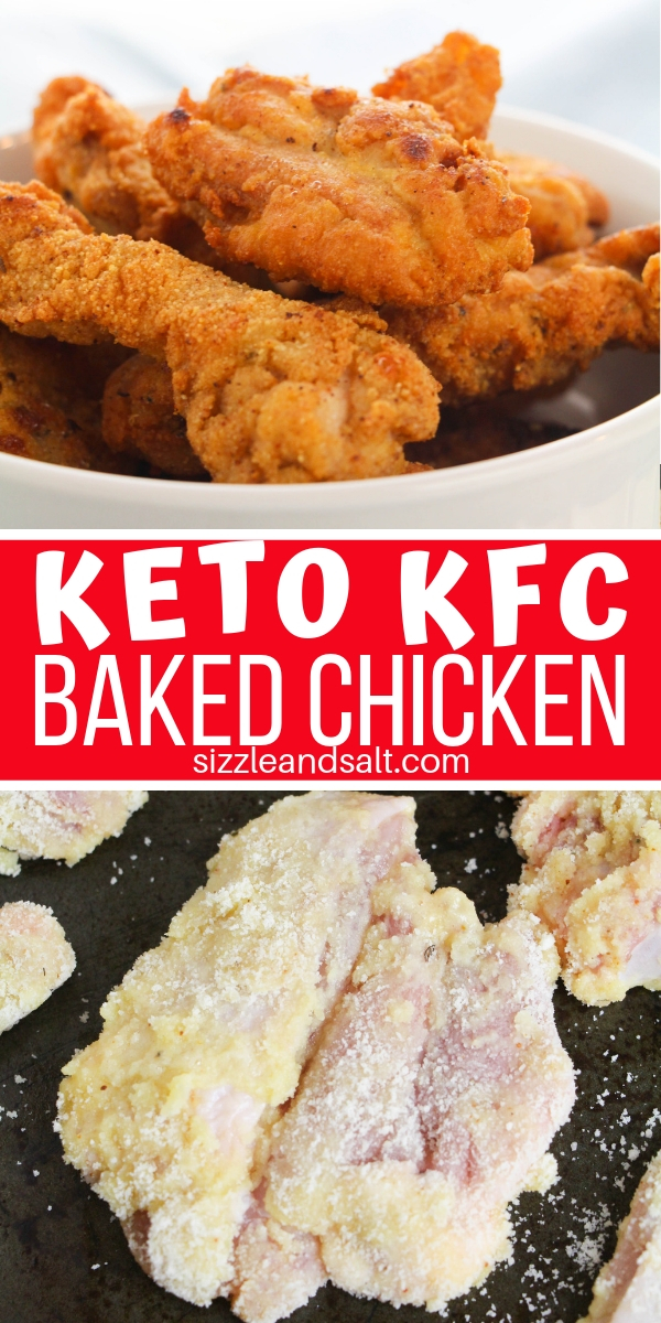 "Pin this Low Carb KFC Copycat recipe for the next time you need a ""treat meal"" - a delicious baked or fried chicken recipe just like the Colonel makes"